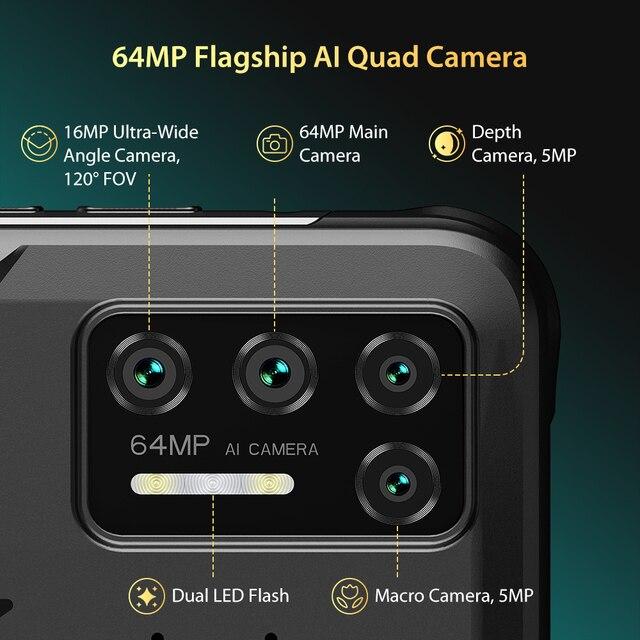 "UMIDIGI BISON GT Waterproof IP68/IP69K Helio G95 Rugged Phone 64MP AI Quad Camera 8GB+128GB 6.67"" FHD+ 33W Charger Smartphone 4"