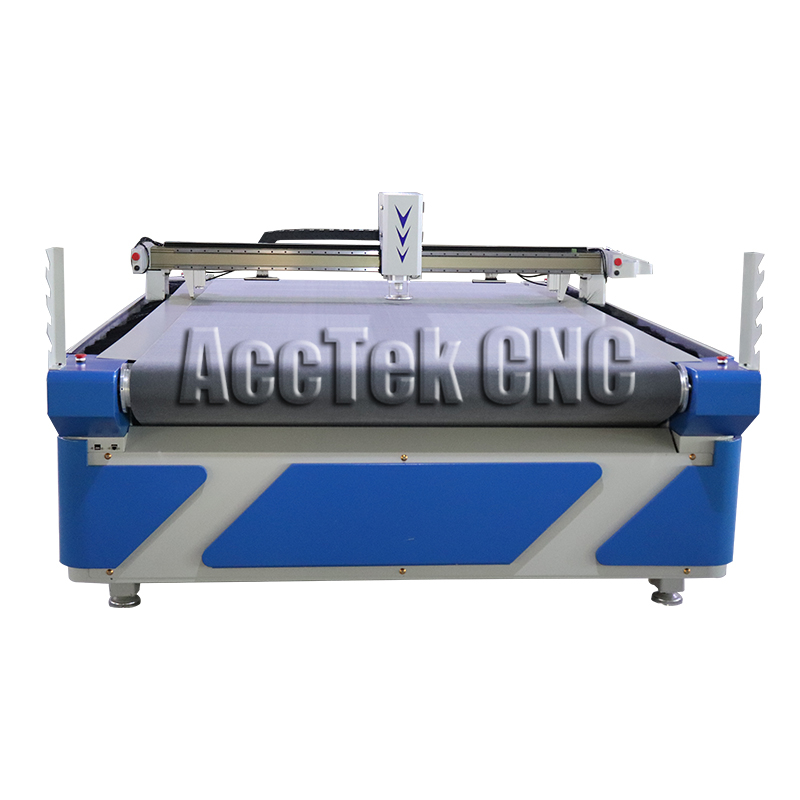 Efficient AccTek Multifunction Cnc Knife Cutting Machine Standard Working Size 1600*2500 Mm OscillationCNC Knife Cutting Machine