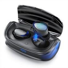 Tws fones de ouvido sem fio bluetooth 5.0 fone de ouvido tipo-c caso de carregamento hd estéreo esportes à prova dwaterproof água fones de ouvido com microfone