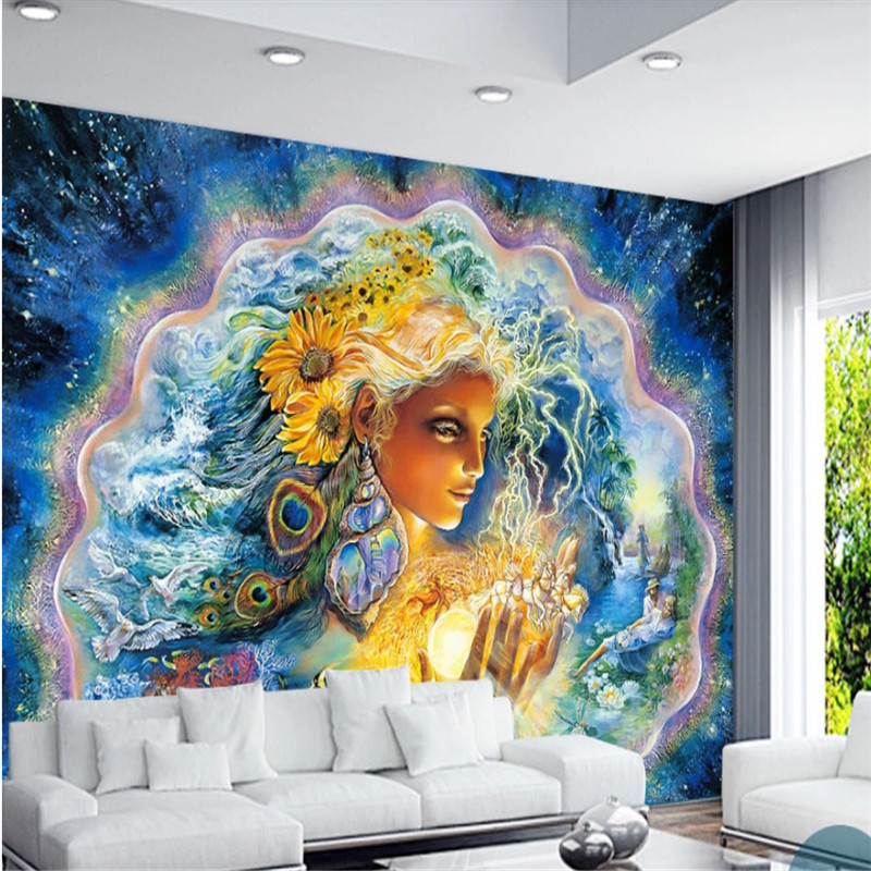European Myth Pearl Mussel Goddess Danish Mythology Beautiful Color Mural Wallpapers For Living Room 3d Wall Papers Home Decor Wallpapers Aliexpress