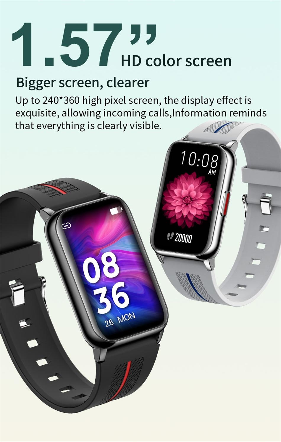 Hce65c714f67544619a2a8aef1ce90e05H New Smart Band Watch Fitness Tracker Bracelet Waterproof Smartwatch Heart Rate Monitor Blood Oxygen LED Screen For Huawei Xiaomi