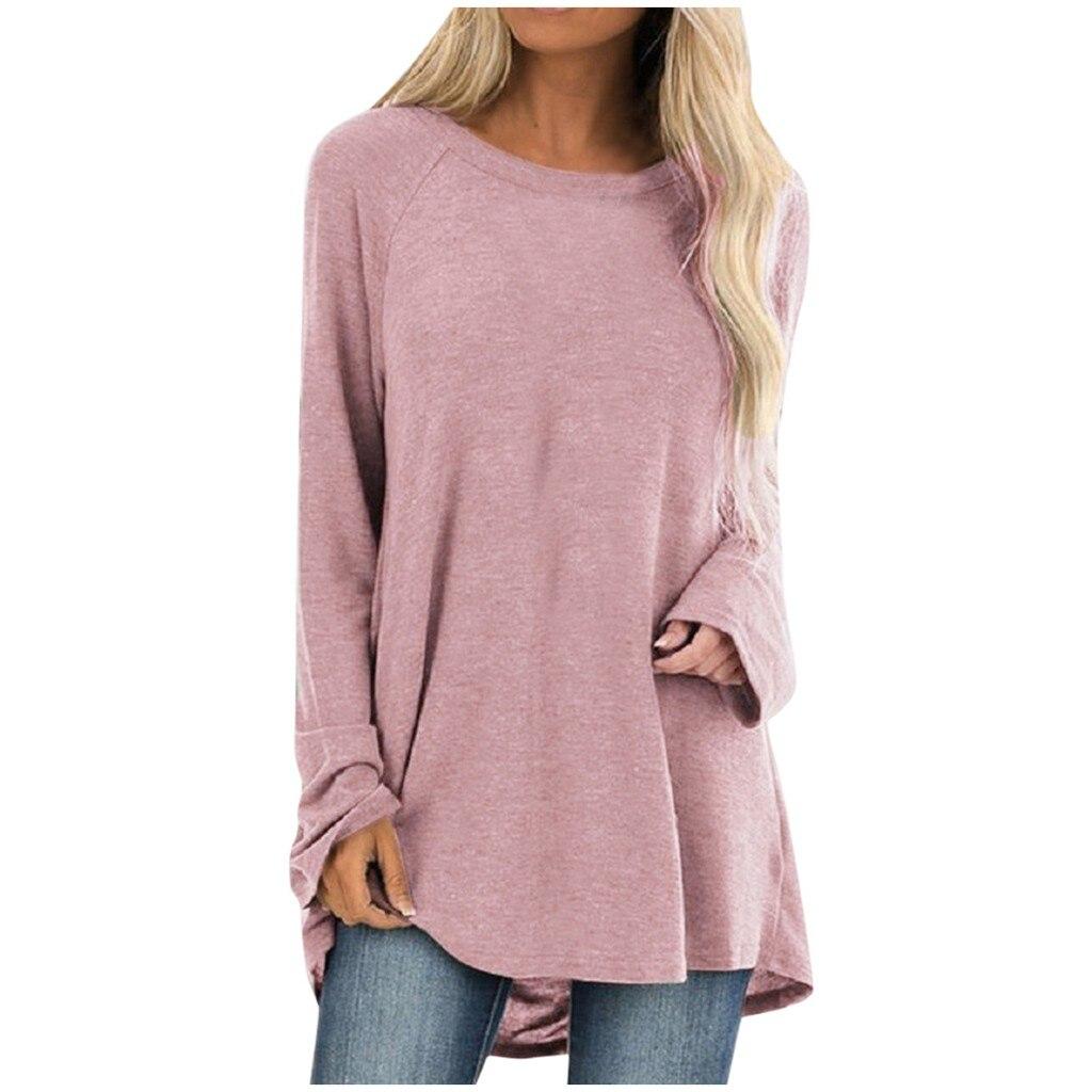 Loose Sweatshirts Female Long Sleeve Irregular Solid Sweatshirt Womens Pullover Hoodie Leisure Pure Color Lady Hoodies Street