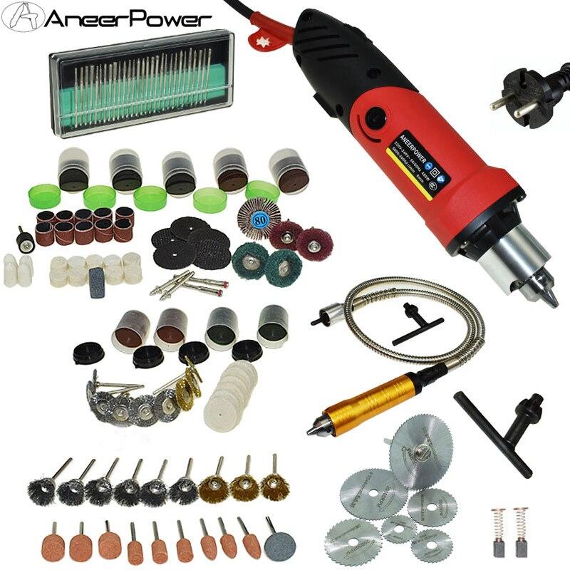 Professionelle 480W Dremel Mini Diy Bohrer Stecher Mini Bohrer Maschine Stift Grinder Dreh Werkzeug Polieren 6 Geschwindigkeiten Kann eingestellt
