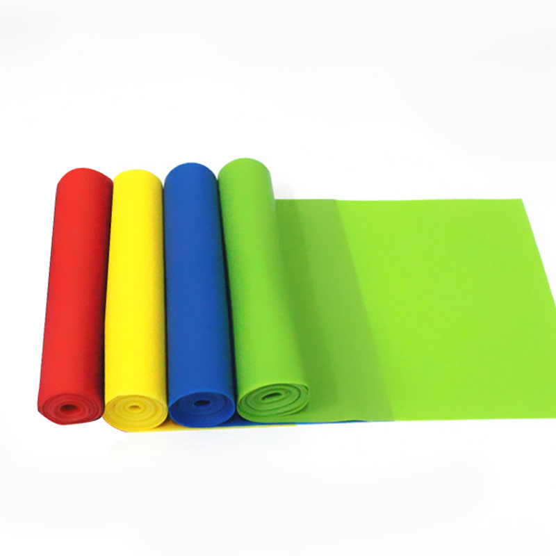 1200x150x0.35mm Elastic Latex Yoga Band Tension Resistance Band Exercise Workout Rubber Loop Strength Training Fitness Equipment