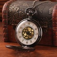Top Quality Alloy Women Pocket Watch Hollow Design Antique Bronze with Long Chain Quartz Ladies Pendant Relogio Masculino