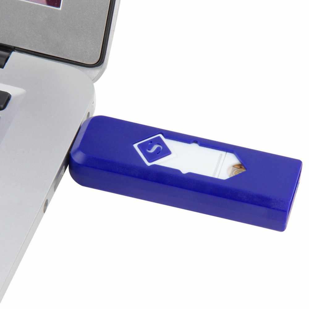 ولاعة سجائر إلكترونية USB يندبروف رقيقة جدا لا الغاز USB قابلة للشحن عديمة اللهب قوس كهربائي السيجار ولاعة السجائر