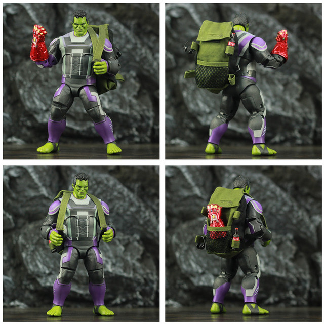 Avengers Endgame Hulk with Infinity Gauntled, Quantum Suit, Coat and Pants 8inch. 3