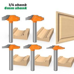 1-5pcs Classical Door & Window Cabinet Bits Engraving Milling Cutter Woodworking Door Frame Router Bits - 6mm/6.35mm Shank