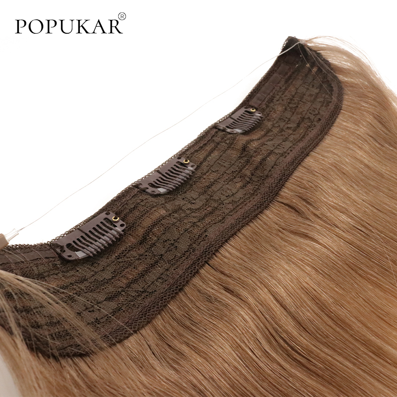 Popukar Flip In Finish Line Weft 100g Cheap Unprocessed Brazilian Remy Human Halo Hair Extension Remy