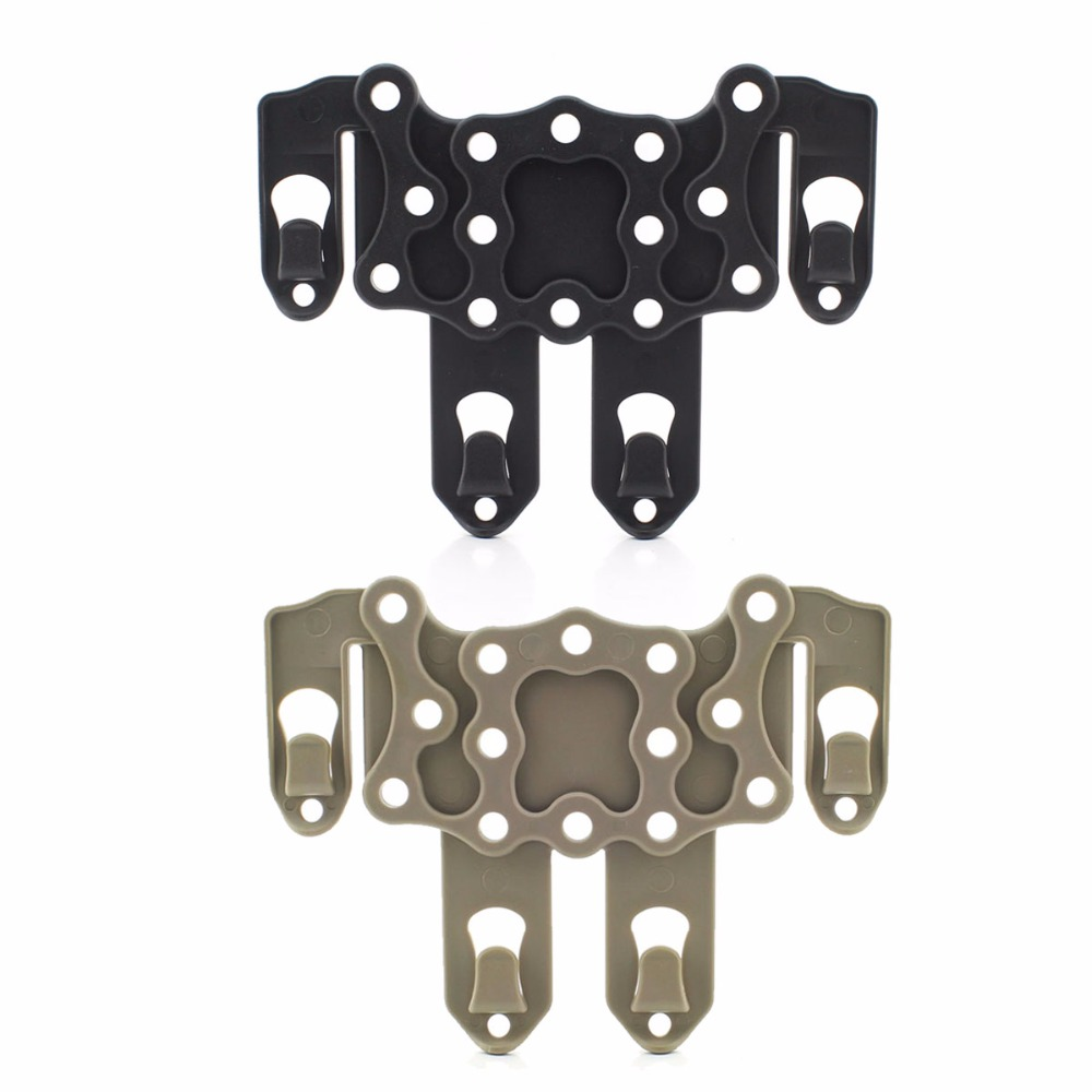 Sports & Entertainment ... Hunting ... 32744191034 ... 1 ... Molle Speed Clip Platform Ambidextrous Holster Rail Case Mount CQC Hunting Holster Adapter Gun Accessories ...