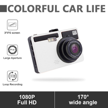 цена на 1080P HD 3 inch Car DVR Camera DVR Dash Cam Wide Angle Dash Camera