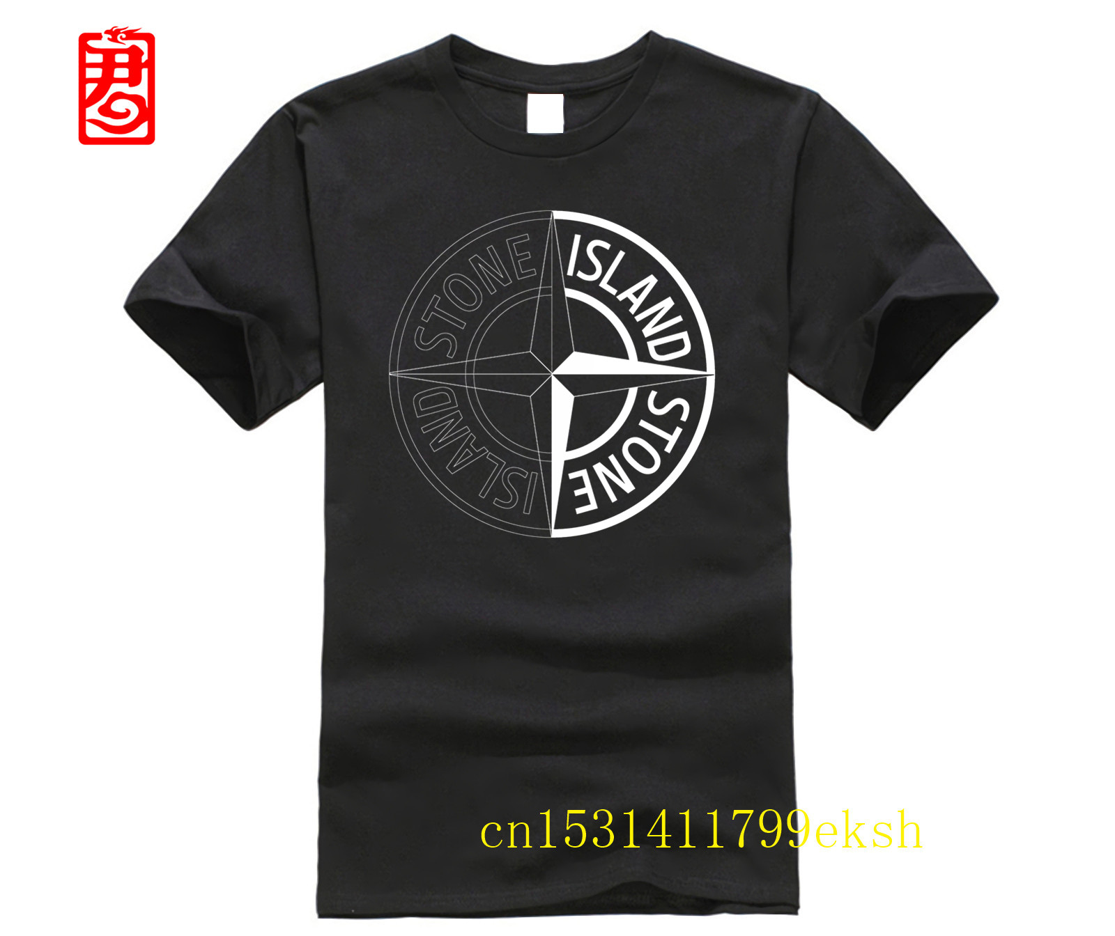 Stone Men Tshirt Funny Fashion T Shirts Cool Shirt For Men Men Casual Top Harajuku T-shirt Island TEE