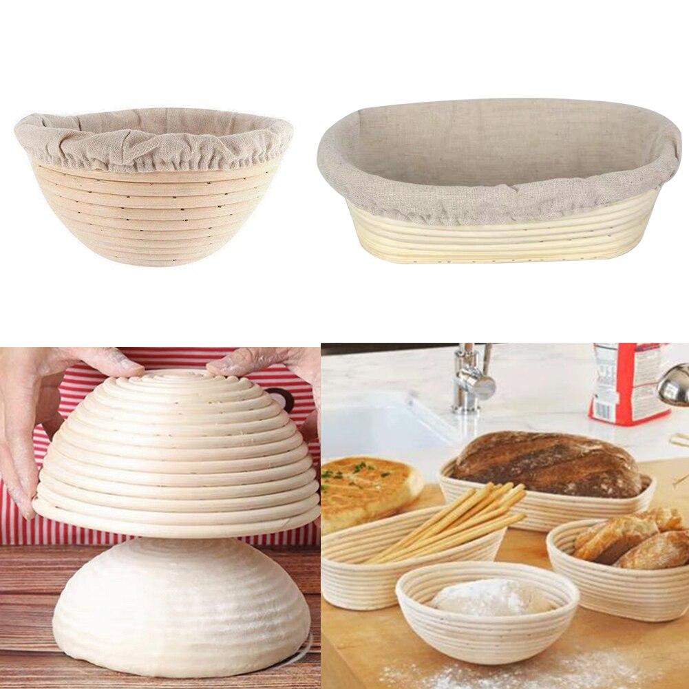 4 размера овальное тесто Banneton Brotform Dougn Ротанговые хлебостойкие корзины для брожения плетеная корзина кухонные принадлежности