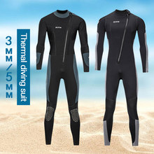 2021 New 3mm5mm wetsuit men neoprene dive and sail surfing free diving Equipment for acuba Snorkeling fishing One-piece wetsuit