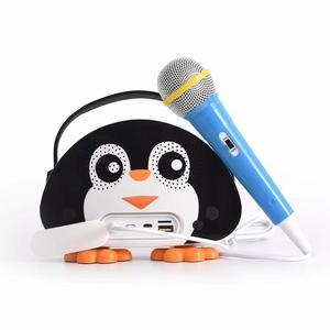 Children Portable Bluetooth Stereo Speaker Wireless Karaoke Singing Machine with Microphone FM Radio TF Card for Kids