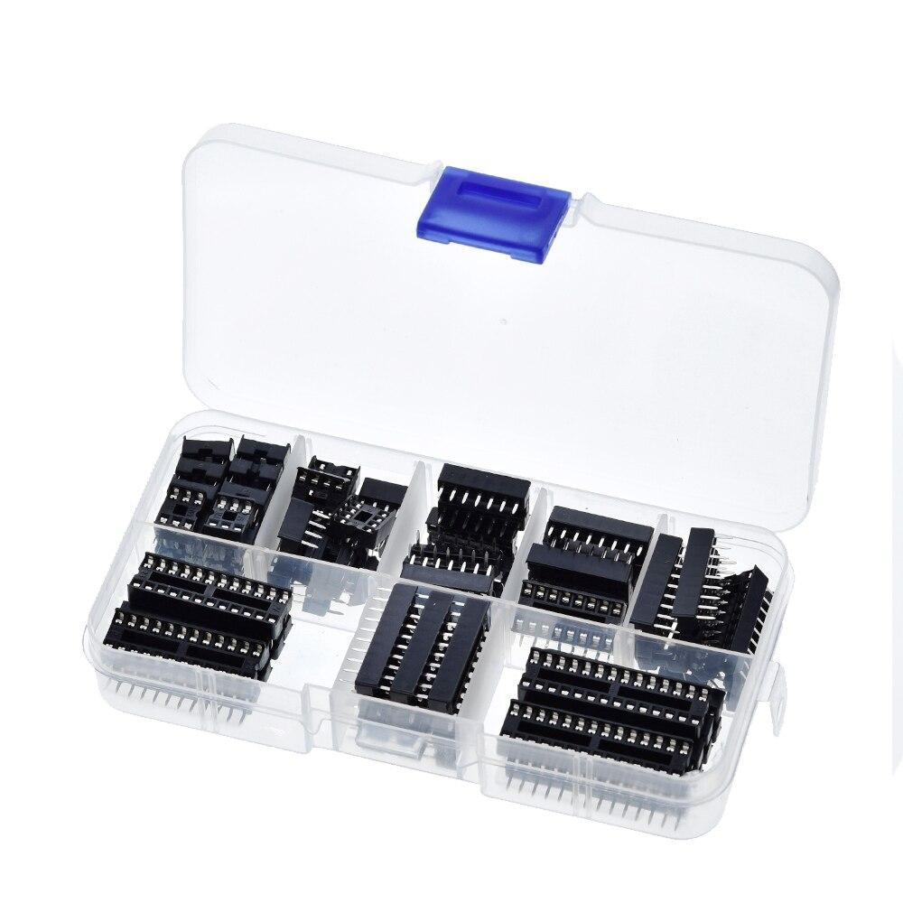 GREAT IT 66 шт./лот DIP IC розетки адаптер паяльный Тип гнездо комплект 6,8,14,16,18,20 контактов Новый