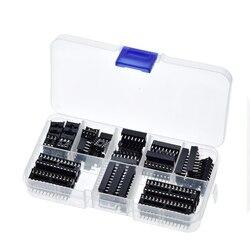 GREAT IT 66PCS/Lot DIP IC Sockets Adaptor Solder Type Socket Kit 6,8,14,16,18,20,24,28 pins New