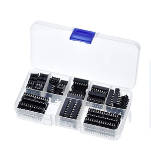 GREAT IT 66PCS/Lot DIP IC Sockets Adaptor Solder Type Socket Kit 6,8,14,16,18,20,24,28 pins New