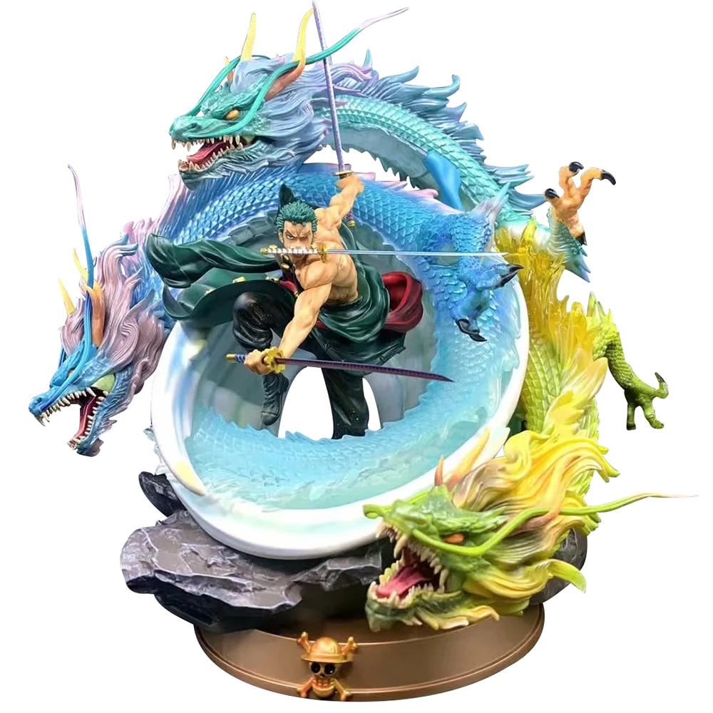 50cm GK Roronoa Zoro Thousand World Tornado Battle Form Statue PVC Action Figure Anime One Piece Statue Collectible Model Toys