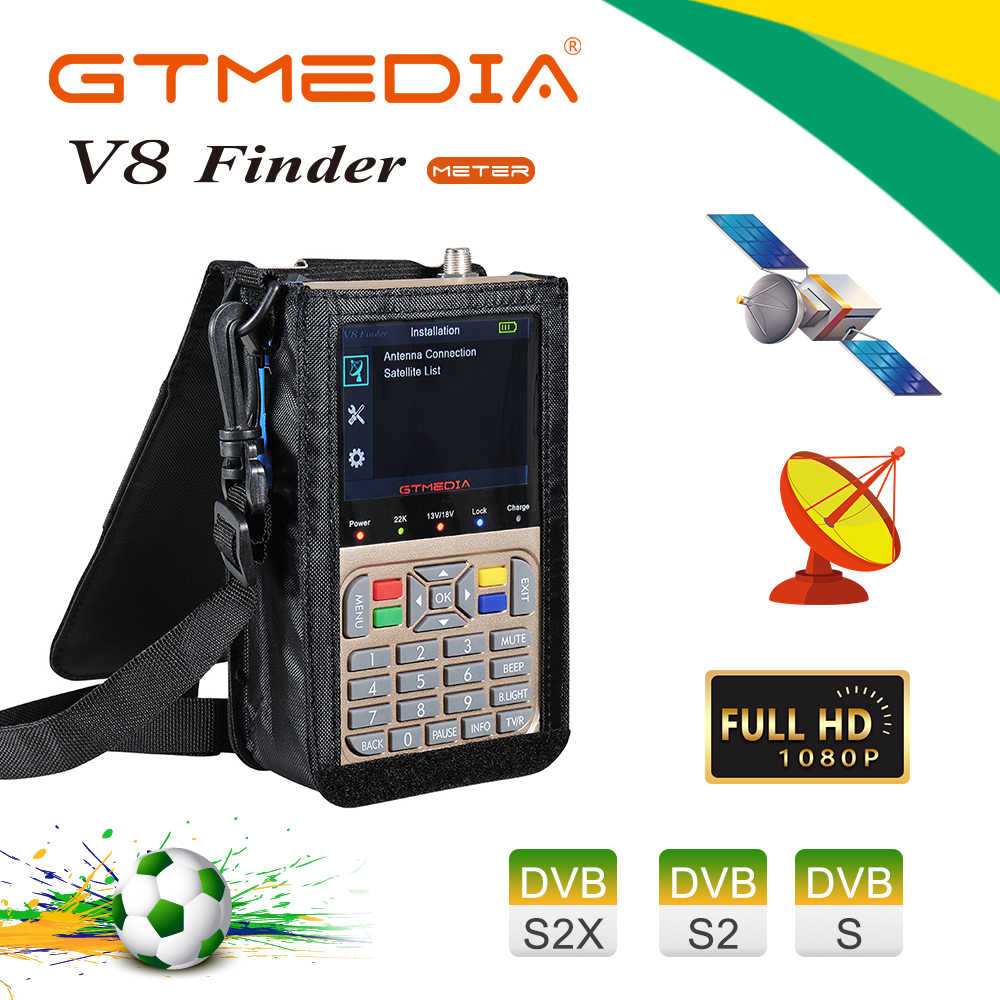 V8 Finder Meter Satfinder Digitale Satelliet Finder Dvb S2/S2X Hd 1080P Receptor Signaal Ontvanger Sat Decoder Acm locatie Finder