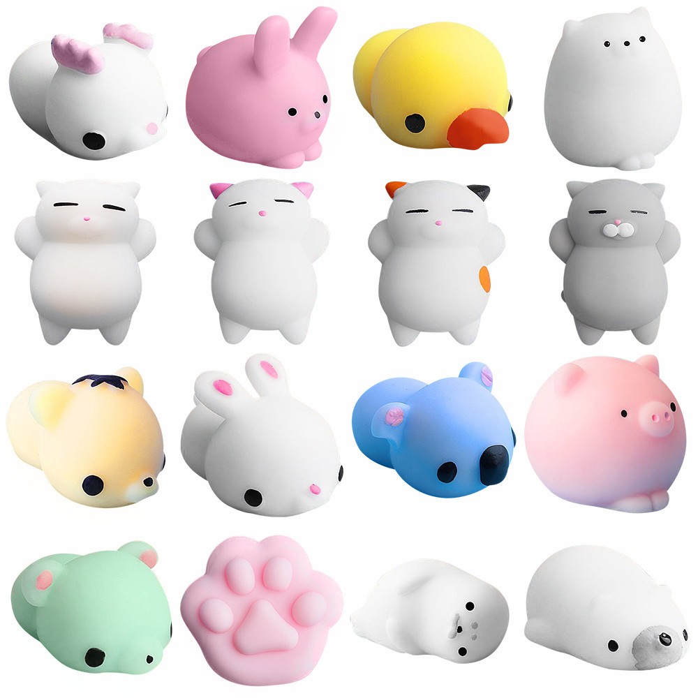 Mini Many Color Cute Decor Antistress Squeeze  Rising Kids Kawaii Toy Soft Sticky Stress Relief Funny Toy 16X L1216