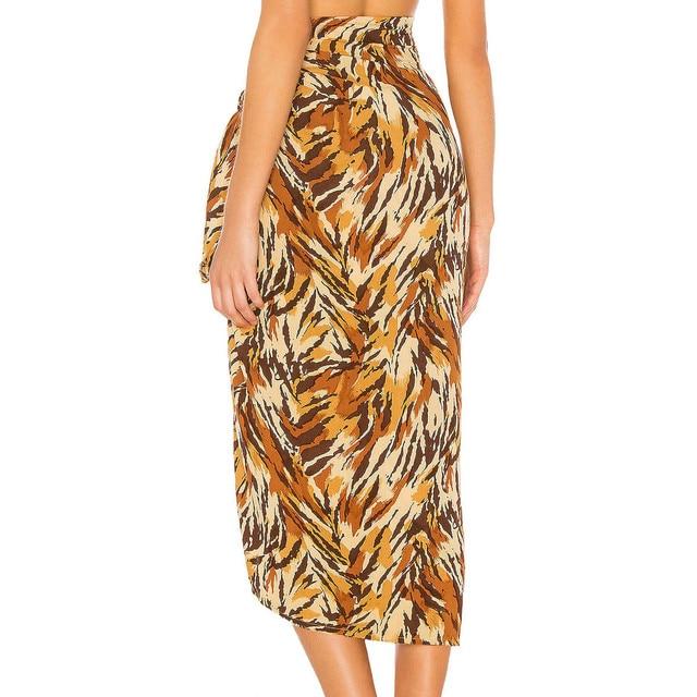 Women Swimsuit Cover Up Printed Mesh Bikini Swimwear Beach Cover-ups Beach Dress Wrap Skirt Парео Для Пляжа 5