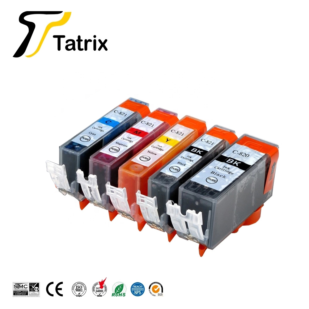 Tatrix Compatible <font><b>Ink</b></font> <font><b>Cartridg</b></font> pgi820 PGI-820 CLI-821 for <font><b>Canon</b></font> MP540 MP545 MP550 MP560 MP568 MP620 <font><b>MP630</b></font> MX870 IP4600 Printer image