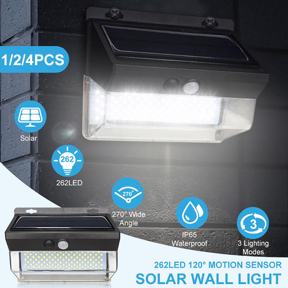 262 LED Solar Light Outdoor Wireless Solar Motion Sensor Light Waterproof IP65 Garden Security Light Luz Solar Led Para Exterior