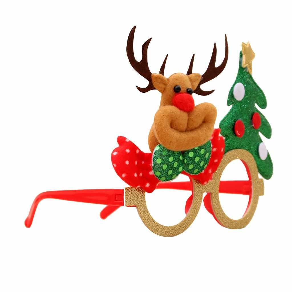 สนุกคริสต์มาสกรอบแว่นตา Santa Claus เด็ก Xmas แว่นตาวันเกิด PARTY Supplies ของเล่นคริสต์มาสของขวัญตกแต่ง