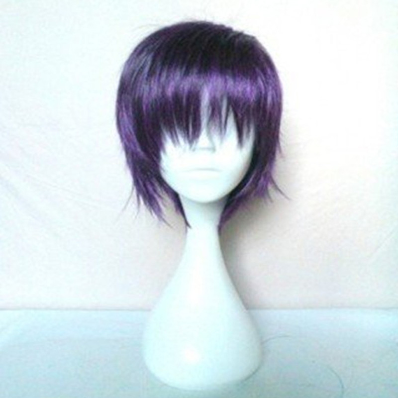 HAIRJOY Synthetic Hair Noragami Yato Cosplay Wig Purple Short Straight Wigs Heat Resistant 6 Colors Free Shipping 2