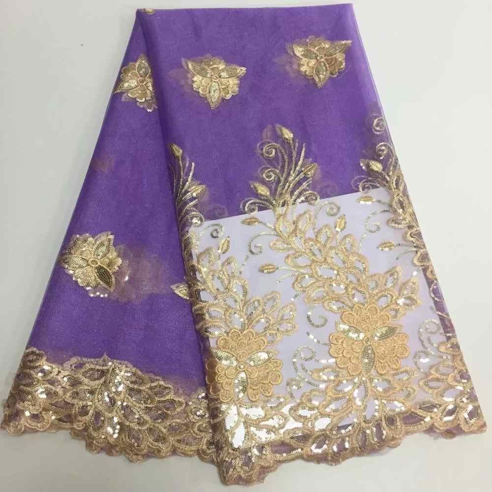 Atacado-alto grau de chiffon Africano laço de tecido com lantejoulas 5 tamanho laço de tecido de paetês verde esmeralda, vestido de festa real