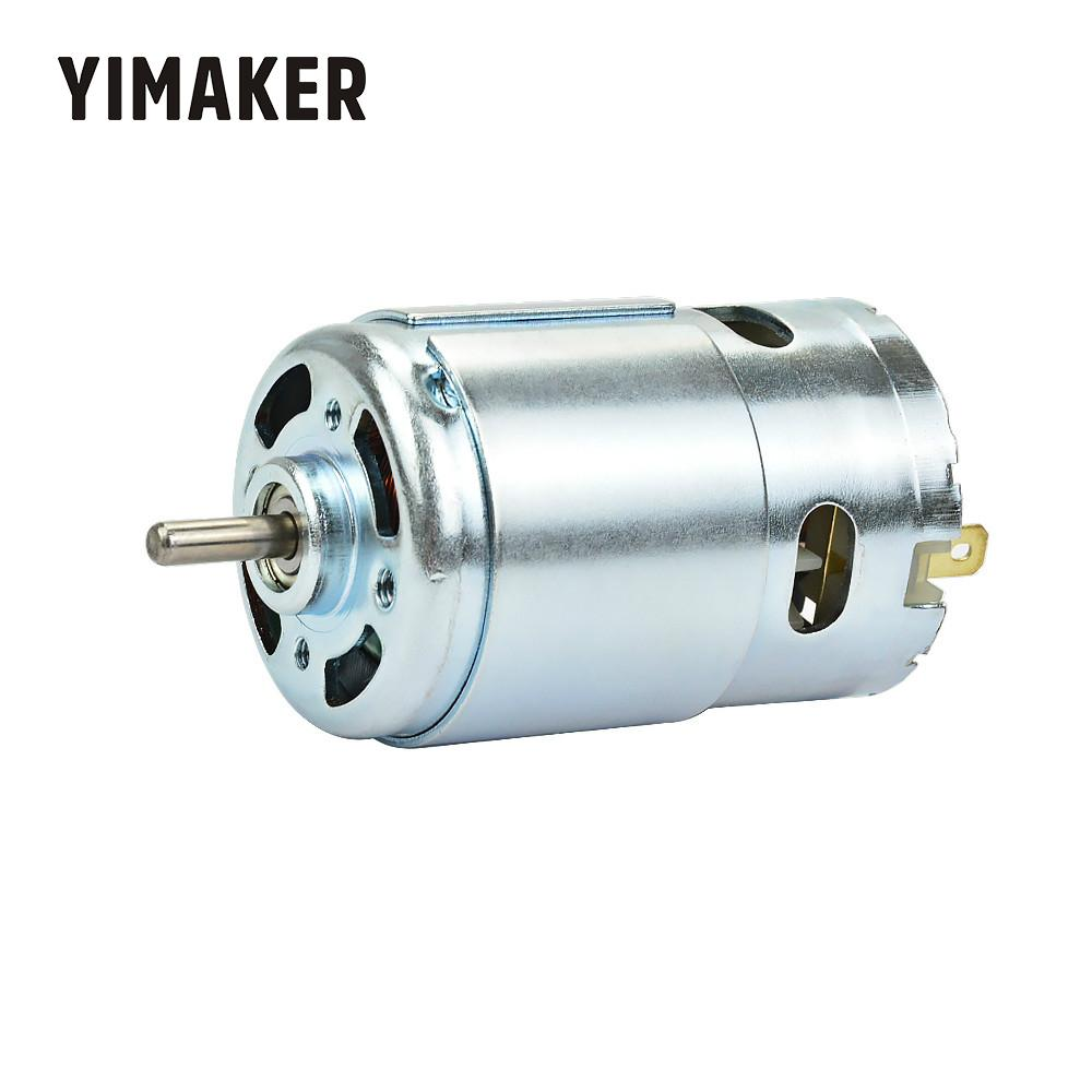 YIMAKER Micro 895 Motor DC12-24V High Power Generator 15A 360W 12000rpm Double Ball Bearing 775 Upgrade DC Motor Large Torque