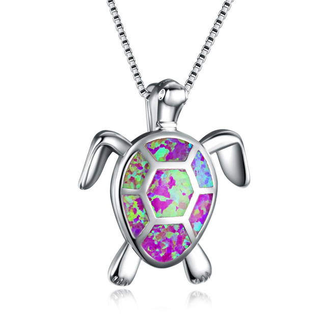 Bamos-4-Color-Opal-Turtle-Necklace-For-Women-925-Sterling-Silver-Filled-Pendants-Necklaces-Valentine-s.jpg_640x640 (2)