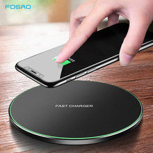 FDGAO 15W Qi Wireless Charger for Samsung S20 S10 S9 Note 10 9 Fast Charging Pad Mat For iPhone 11 Pro Max XS XR X 8 AirPods Pro(China)