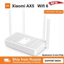 New Xiaomi Redmi Router AX5 Wifi 6 Mesh Gigabit 2.4G/5.0GHz Dual-Band Wireless Router Wifi Repeater 4 High Gain Antennas WIFI AX