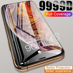 9999D Full Cover Glass For iPhone 11 12 Pro XS Max X XR 12 mini Screen Protector iPhone 8 7 6 6S Plus Tempered Glass Film Case