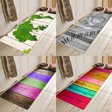 Wide color wood board printing flannel home Anti-Slip absorbent floor mat entry floor mat bedside mat in bathroom floor mat plate floor pad plate type flower type printing anti slip absorbent flannel home floor pad