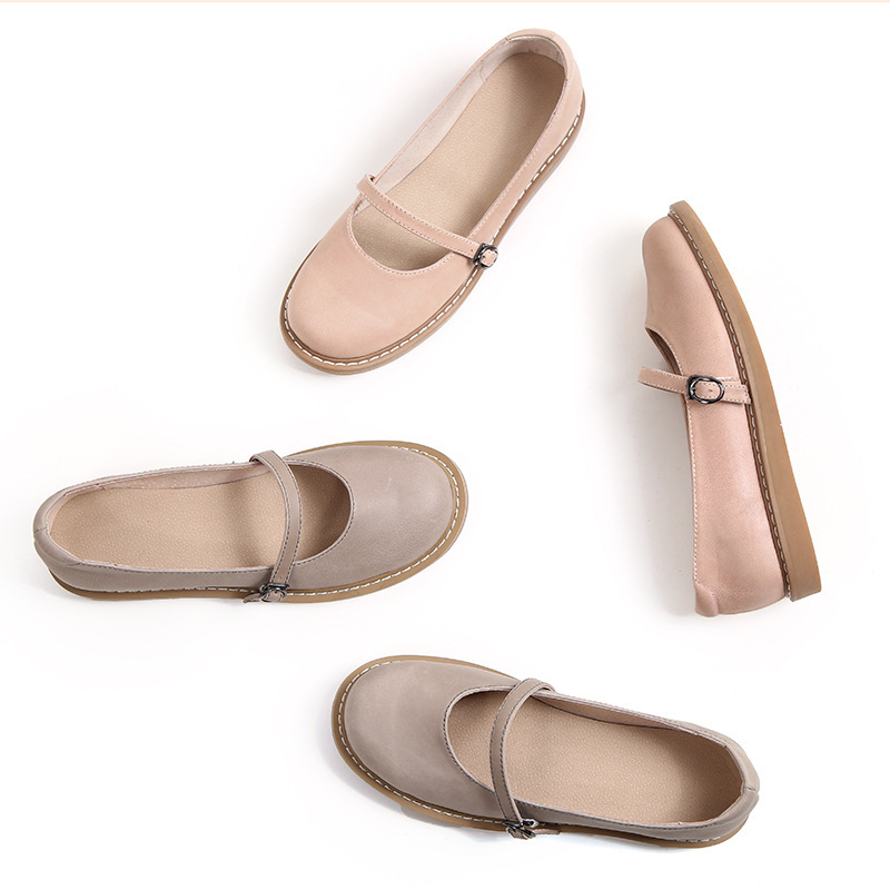 2020 neue Echtem Leder Oxford Schuhe Für Frauen Flache Schuhe Chaussures Femme Retro Handgemachte Slip Auf Casual Schuhe Frauen
