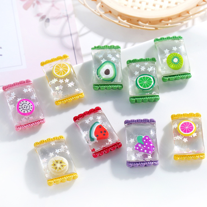Boxi Resin Fruit Candy Slime Additives Charms Cute DIY Kit Filler Decor Accessories For Cloud Clear Crunchy Slime Clay In Stock