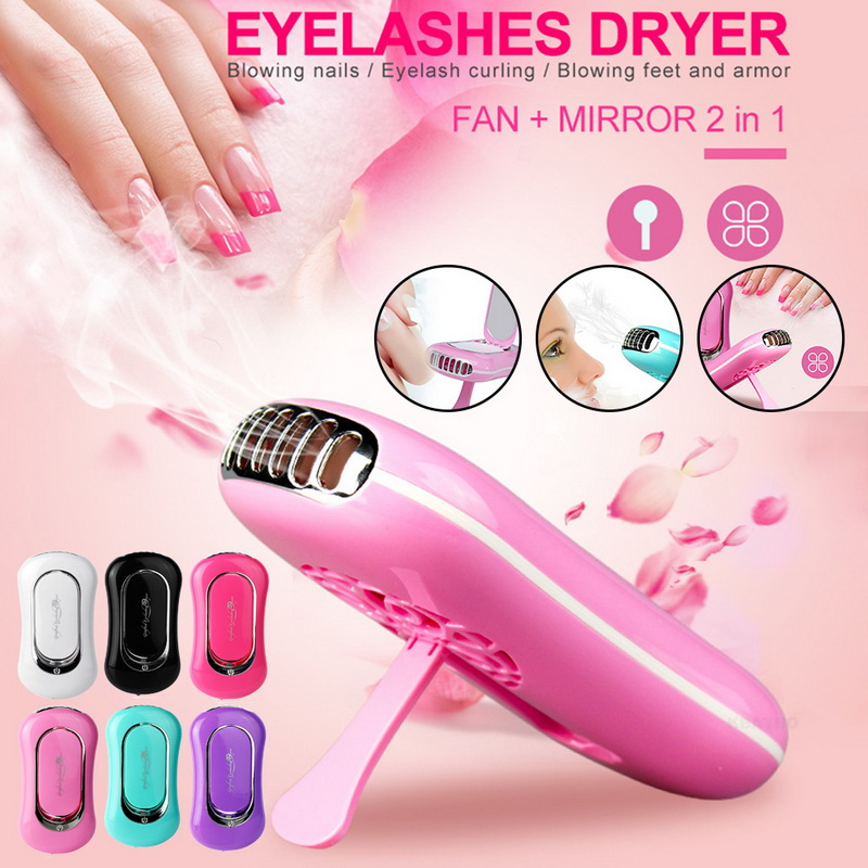 Portable USB Mini Fan Eyelash Dryer Air False Eye Lash Mascara Dryer Quick Drying Makeup Device Tools