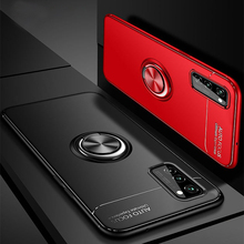 Luxury Silicone Cases For Huawei Honor V30 Bumper Case For V9 V10 V20 V30 Armor Case with Magnetic Car Ring Honor V30 Pro Covers 2 1mm thick luxury bumper case for huawei honor v30 germany bayer material case honor v30 pro independent plating button cover
