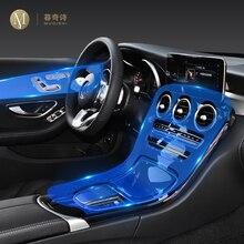Für Mercedes Benz GLC W253 260 300 2020 2021 Auto Interior Center konsole Transparent TPU Schutzhülle film Anti scratc Zubehör