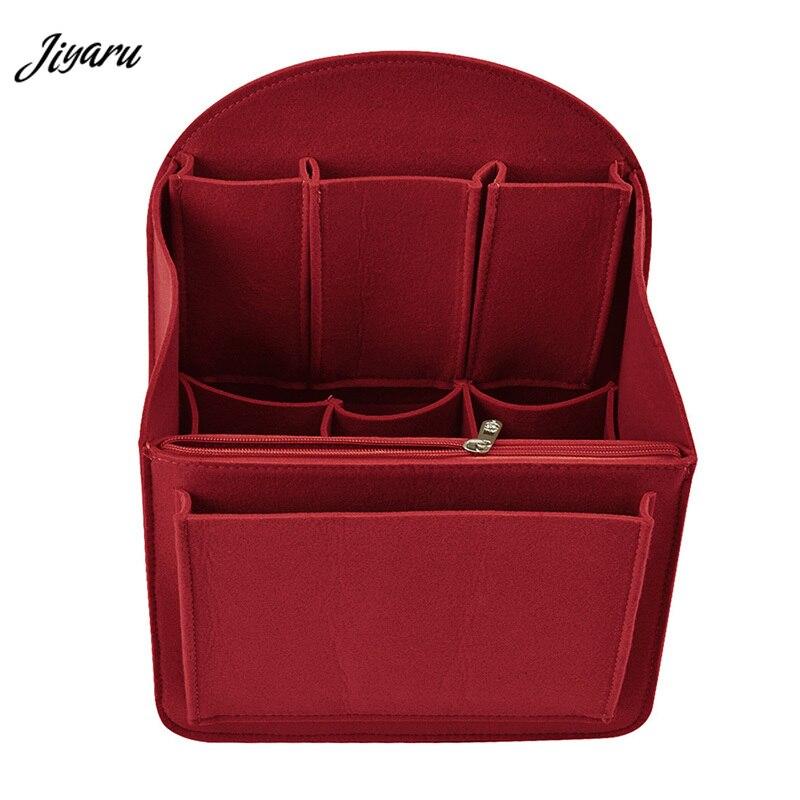 Makeup Bag Insert Travel Organizer Felt Bag Insert Cosmetic Bag With Multi-Pockets Makeup Case Handbag Inserts Cosmetic Cases