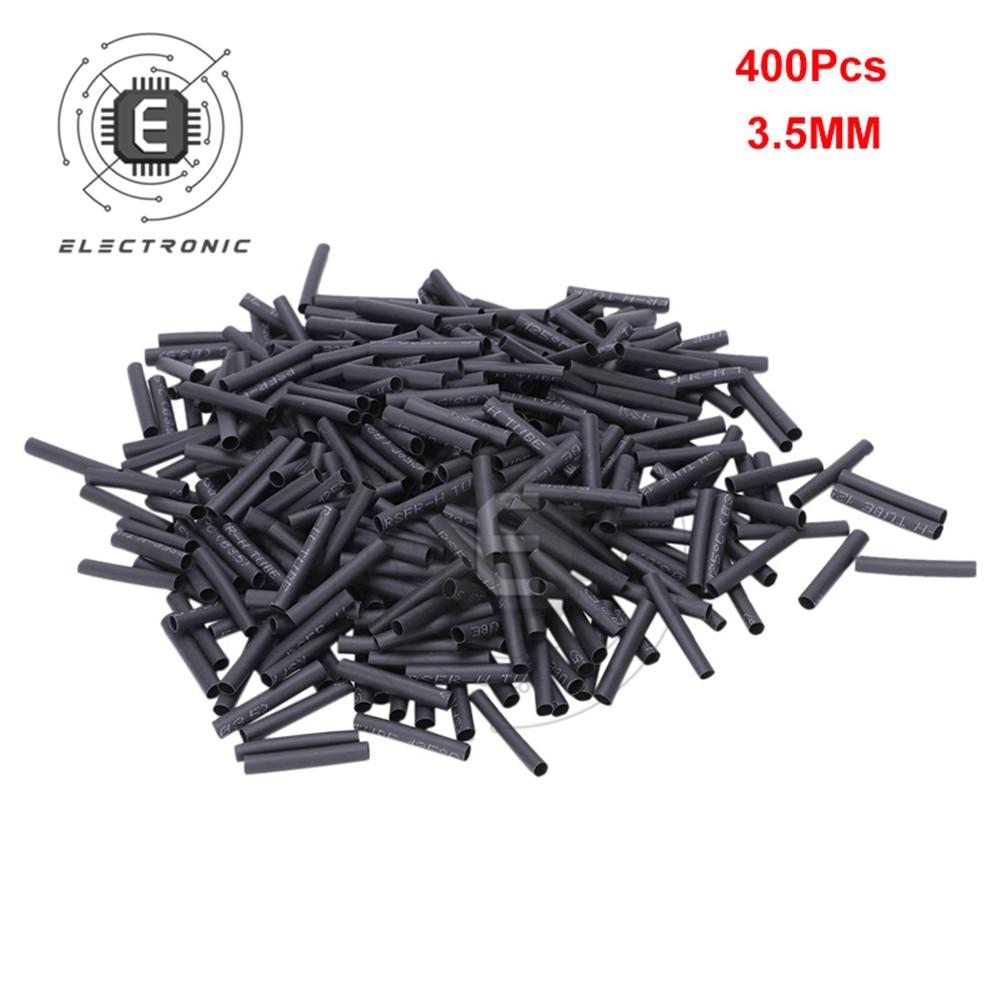 400 pièces 3.5MM 30mm polyoléfine rétrécissement thermorétractable Tube fil câble isolé gaine Protection Isolation manchon 21