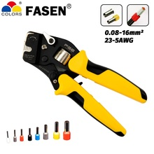 VSC10-16-4A 0.08-16mm^2 23-5AWG Adjustable Precise Crimp Pliers Tube Bootlace Terminal Crimping Hand Tool HSC10-16-4A