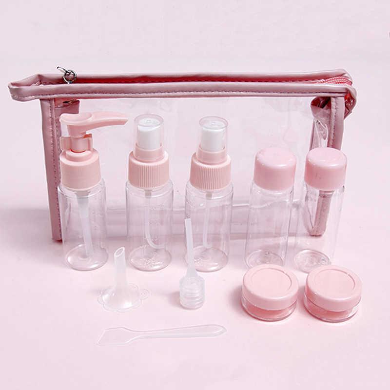 11 шт. портативный мешок для упаковки лосьона, бутылочка для ухода за кожей, косметический Органайзер для путешествий, мягкая бутылка для хранения молока для кожи, для путешествий