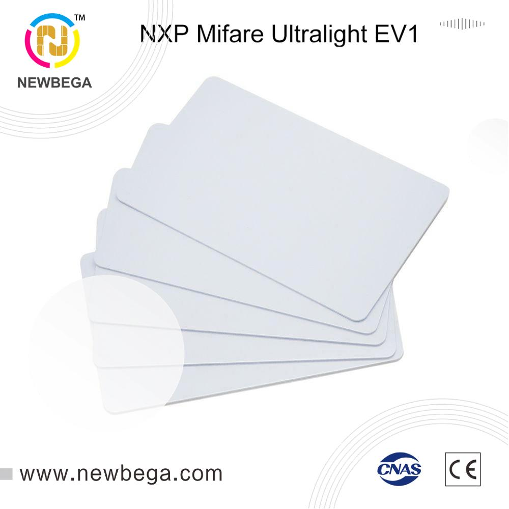 10PCS 13.56MHz RFID NFC Card  Genuine Ultralight EV1-4byte UID Plain White Card For Zebra Evoil Datacard IDP Card Printer