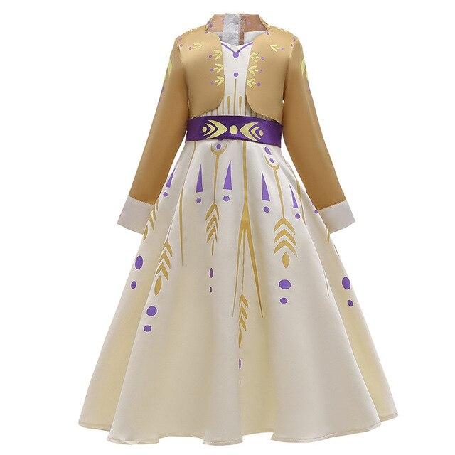 OBEEII Princesse Costume Reine des Neiges 2 Fille Cosplay D/éguisement et Accessoires Enfant Robe de Soir/ée Halloween F/êtes No/ël Anniversaire Carnaval C/ér/émonie 2-14 Ans