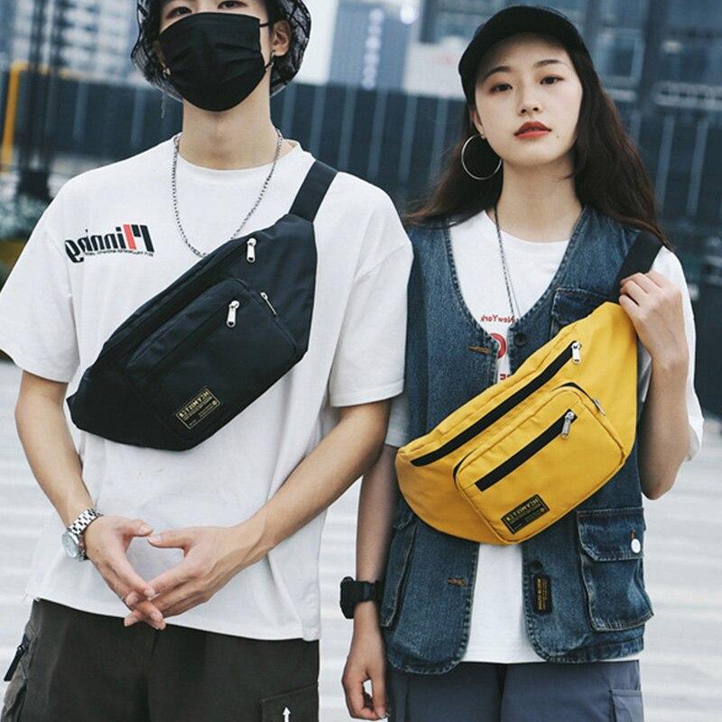 Unisex Large Capacity Fanny Pack Waist Bag Trendy Streetwear Women Banana Pack Hip Hop Bags Multifunction Outdoor Waist Pack