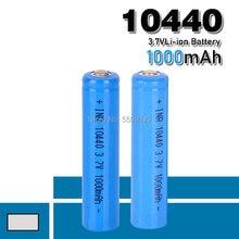 Bateria de lítio aaa 3.7v 10440, alta capacidade, 1000mah, íon-lítio, bateria recarregável, para lanternas led, farol sem fio, mouse